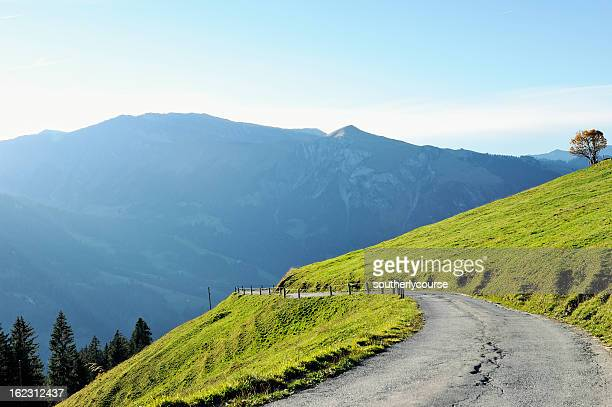 Mountain Road in the Bernese Alps Switzerland