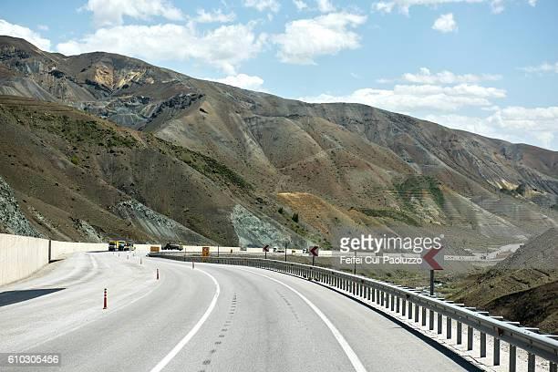 Mountain road near Erzincan of Turkey