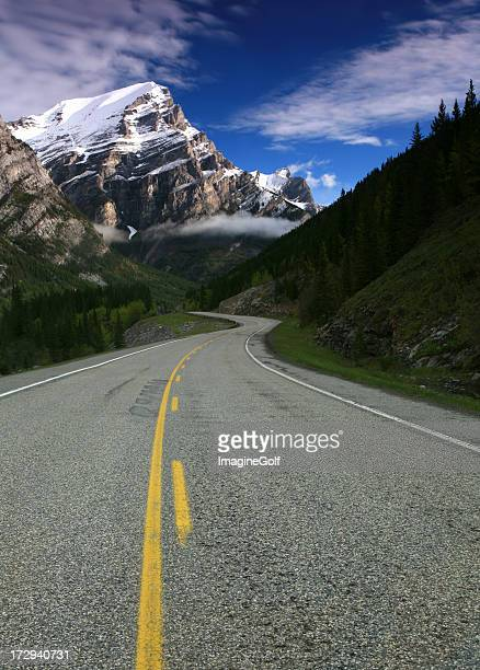 mountain road - kananaskis country stock pictures, royalty-free photos & images