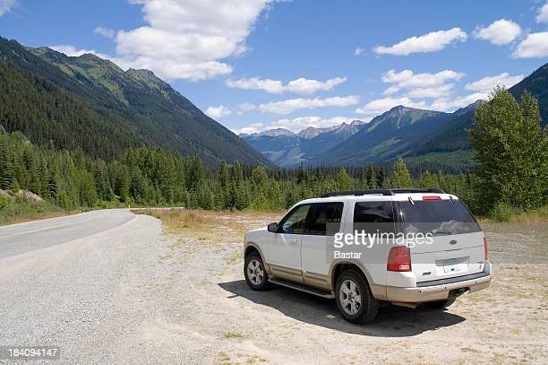 mountain road - stationary stock pictures, royalty-free photos & images