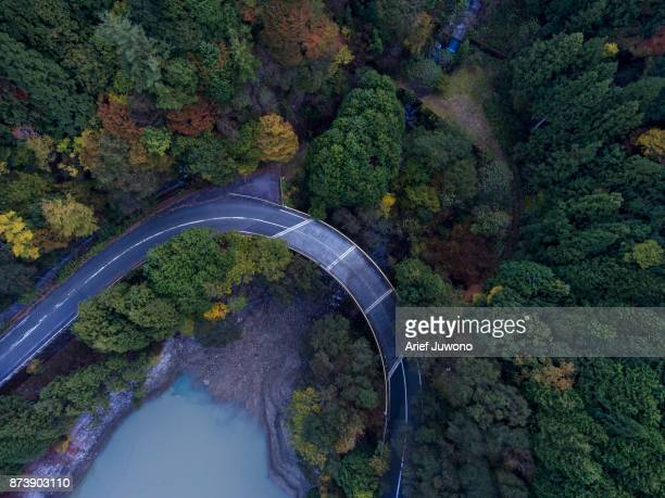 mountain road - mie prefecture stock pictures, royalty-free photos & images