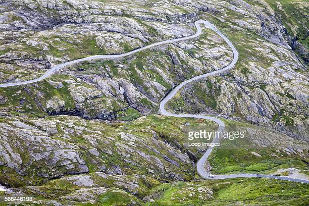 Mountain road to Dalsnibba viewpoint
