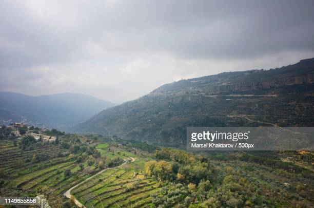 mountain scene - lebanon country stock pictures, royalty-free photos & images