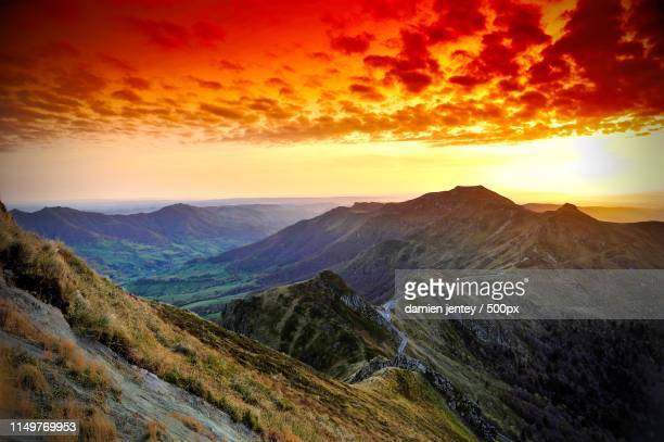 mountain scene - auvergne stock pictures, royalty-free photos & images