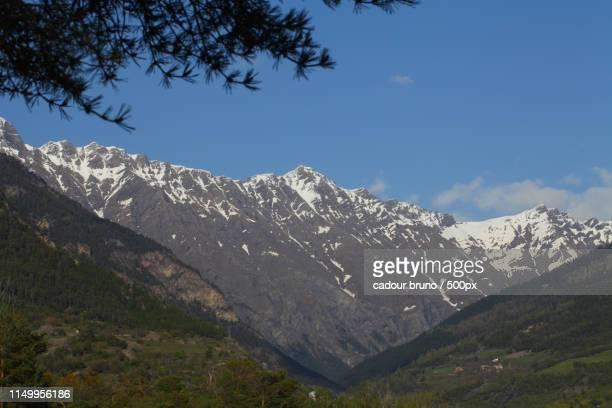 mountain scene - alpes de haute provence stock photos and pictures
