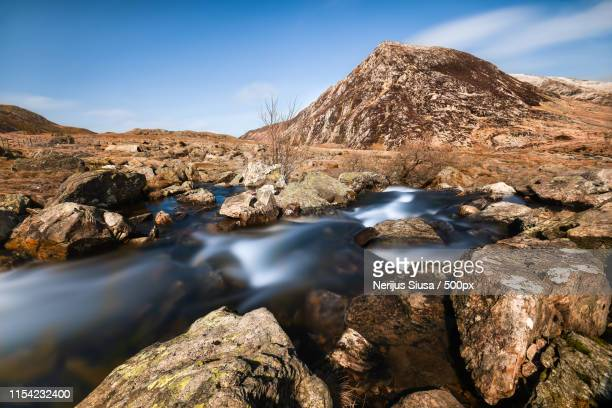 mountain scene - llandovery stock photos and pictures