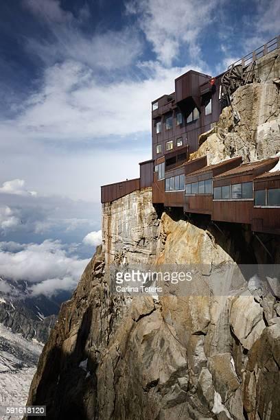 Mountain side walk way at Mont Blanc
