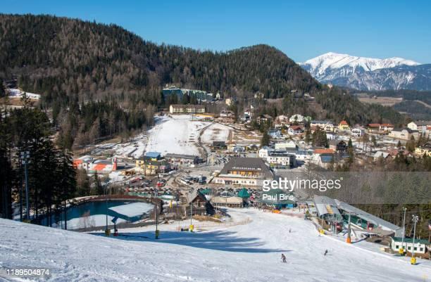 mountain ski resort semmering, austria - sölden stock-fotos und bilder