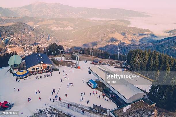 mountain ski resort semmering, austria - solden stock pictures, royalty-free photos & images