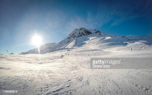 mountain ski resort solden austria - nature and sport background - sölden stock-fotos und bilder