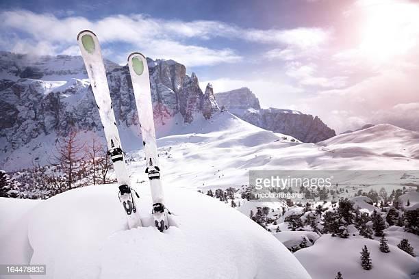Mountain ski Sonnenuntergang