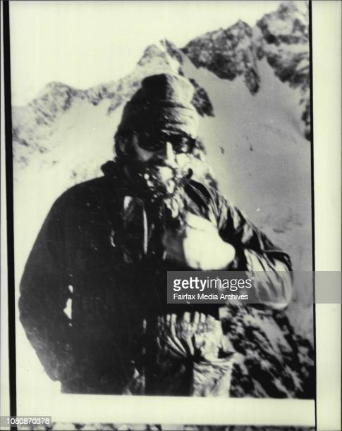 Mountain Snapshot pic of Timothy Collins of Turramurra swept to his death by an avalanche on Mt Cook NZ February 05 1982