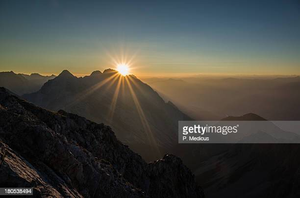 mountain sunrise karwendel