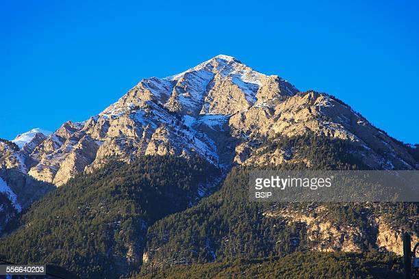 Mountain The Ubaye Valley in the Alpes de HauteProvence France Summit of Pointe Fine mountain