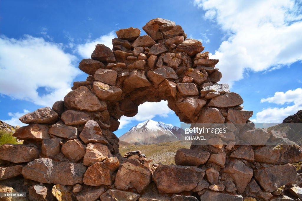 Mountain through the stones Bolivia : Stock Photo