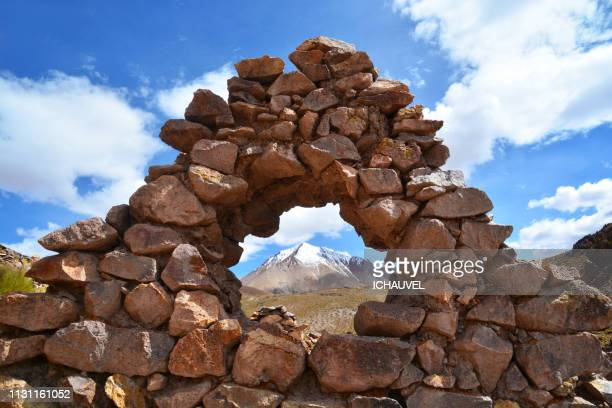 mountain through the stones bolivia - climat stock pictures, royalty-free photos & images