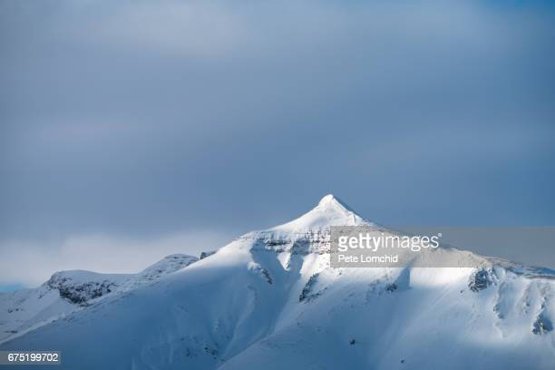 mountain top winter Iceland