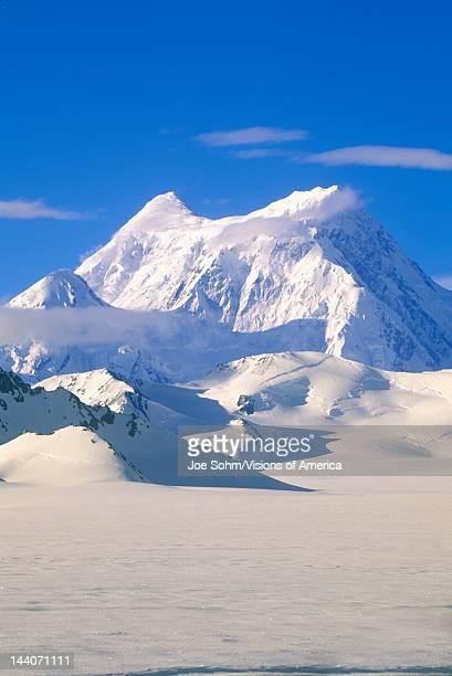 Mountain tops in St Elias National Park and Preserve Wrangell Mountains Wrangell Alaska