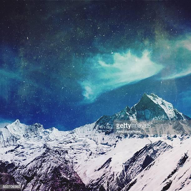 Mountain tops of Himalayas