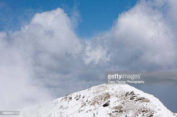 mountain tops - mount baldy stock photos and pictures