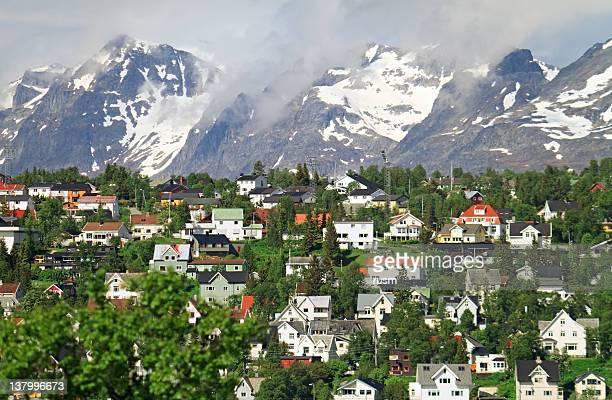 Mountain town Tromso, Norway
