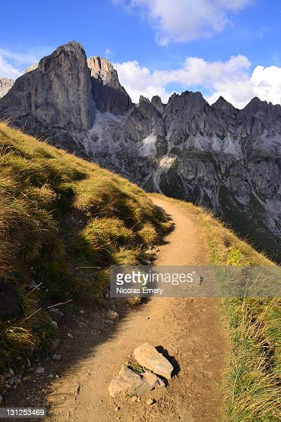 mountain trail - emery stock photos and pictures
