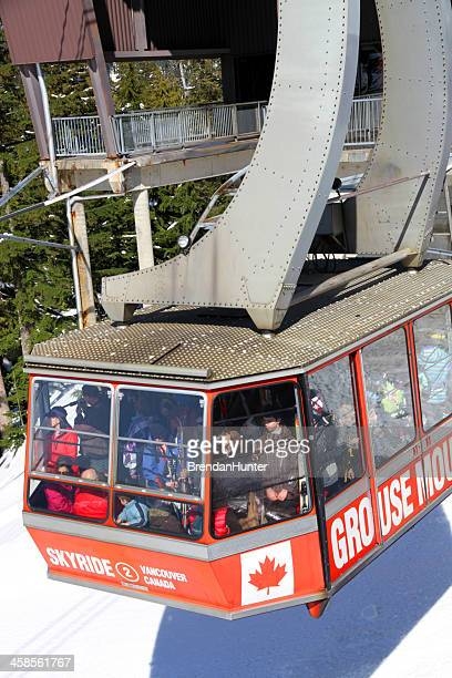 mountain transportation - grouse mountain stock photos and pictures