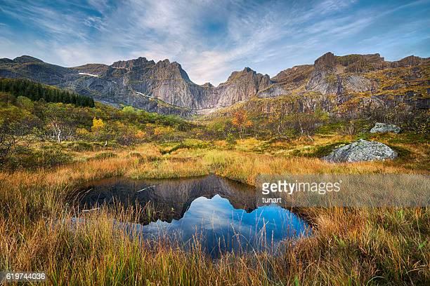 Mountain View in Lofoten, Norway