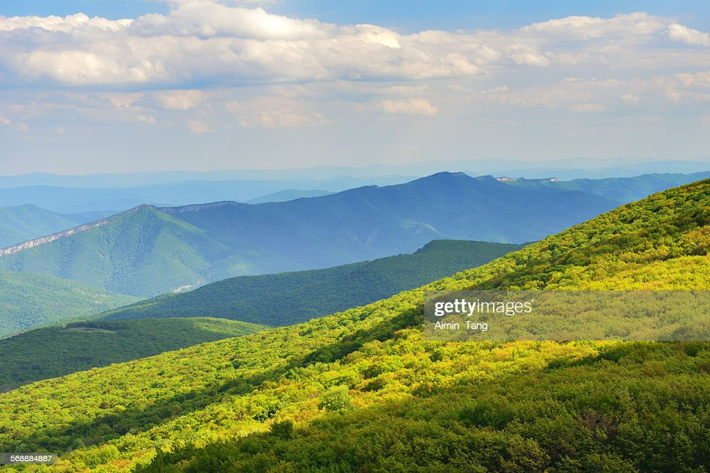 Mountain view in West Virginia : Stock Photo