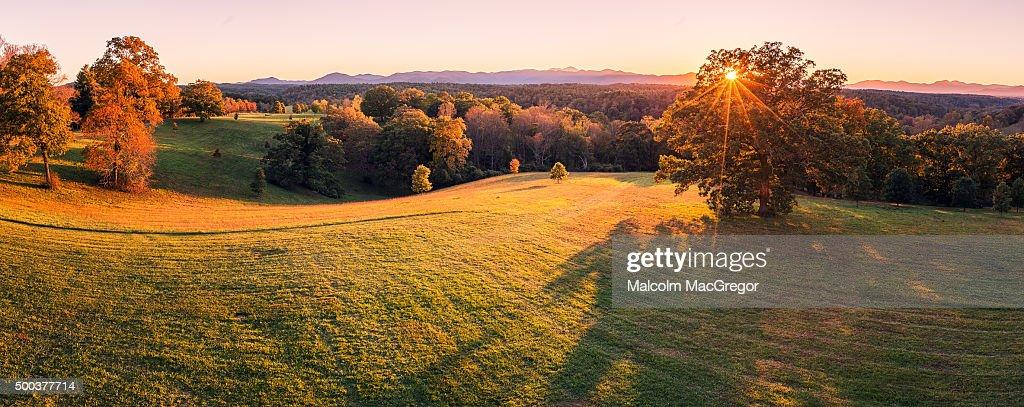 Mountain View Panorama : Stock Photo