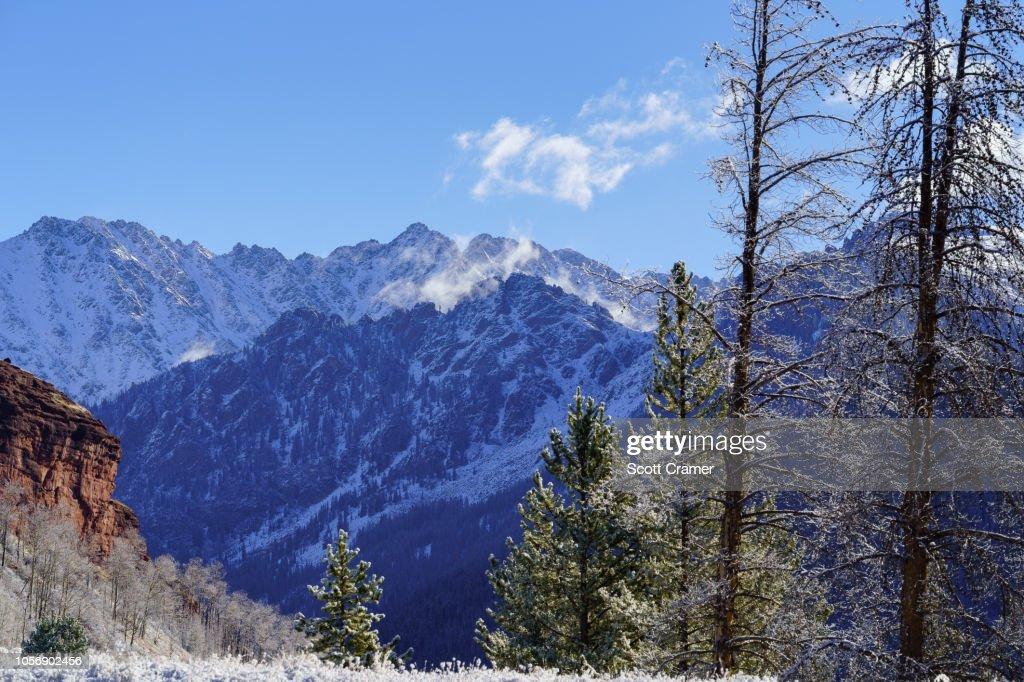 Mountain Views Winter Vail : Stock Photo