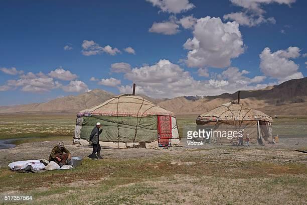 Mountain village in Kyrgyzstan