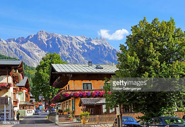 mountain village of dienten, austria - saalfelden stock pictures, royalty-free photos & images