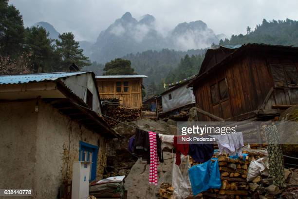 Mountain Village on Mount Everest Trek
