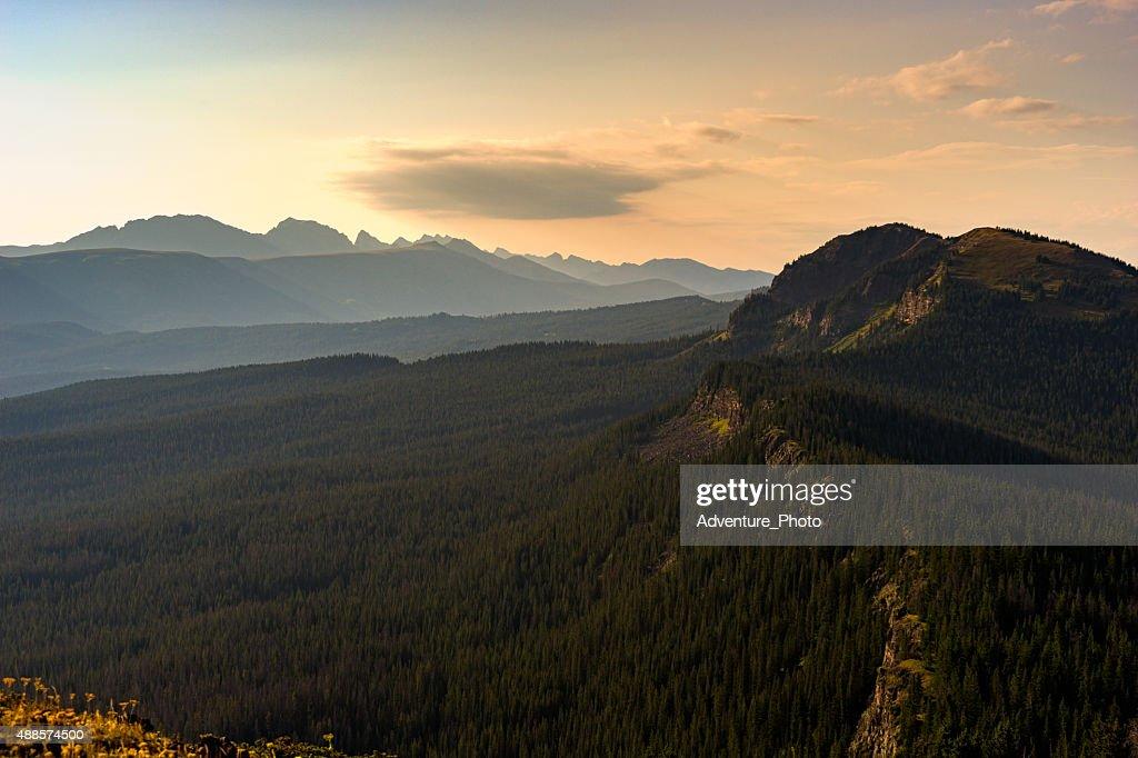 Mountain Vista Gore Range View : Stock Photo