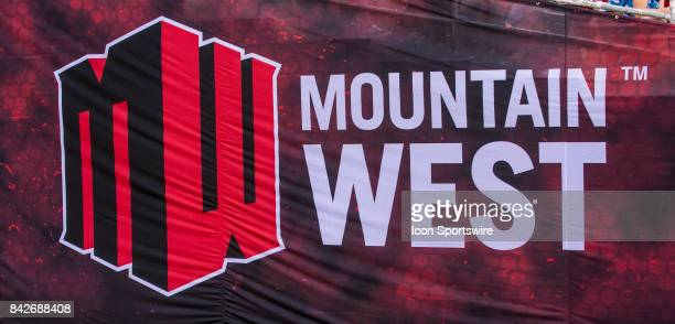 Mountain West Conference sign during the college football game between UC Davis Aggies and San Diego State University Aztecs on September 02 2017 at...