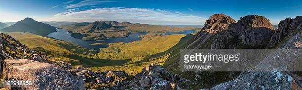 Mountain wilderness sunrise Highland glens panorama Scotland