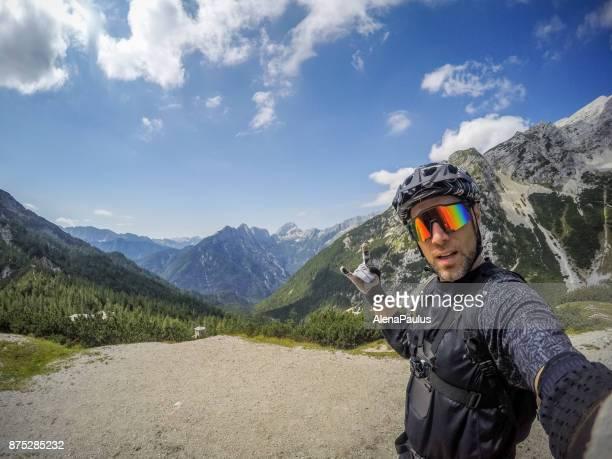Mountainbike ride in Alps