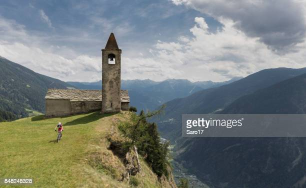 Mountainbiking at San Romerio, Switzerland.