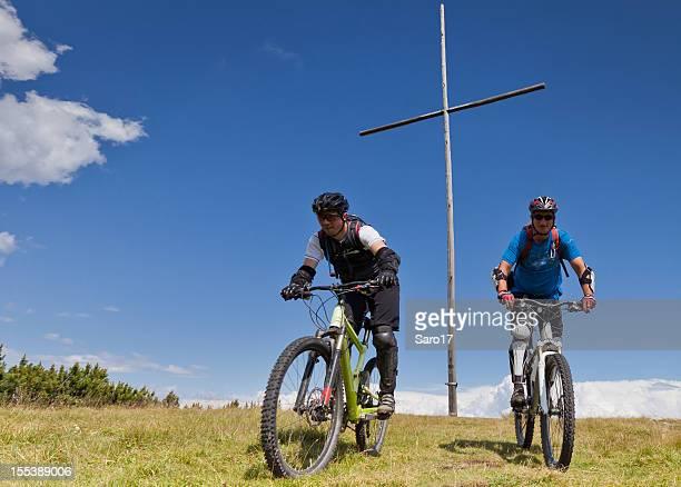Mountainbiking at the green summit, South Tyrol