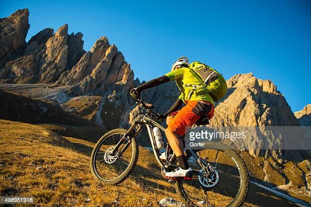 Mountainbiken-Radfahrer