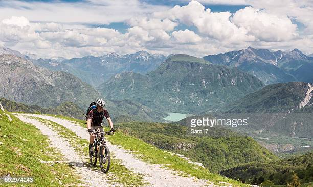 Mountainbiking in the Friulian Mountains, Italy