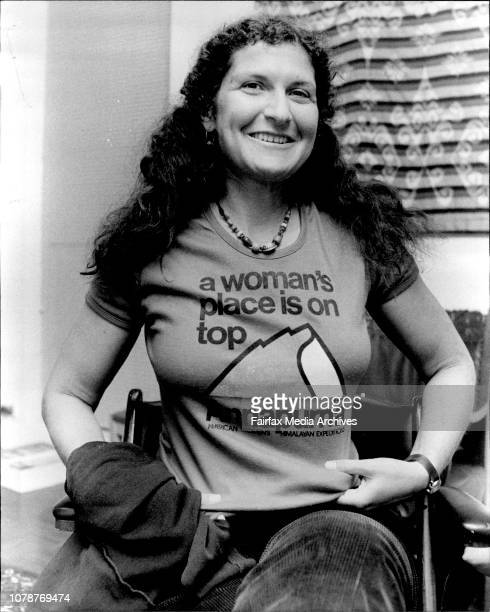 Mountaineer Arlene Blum who is visiting Australia form the USA to do a lecture tour and also promote her book A Womans Place is on the Top July 6 1983