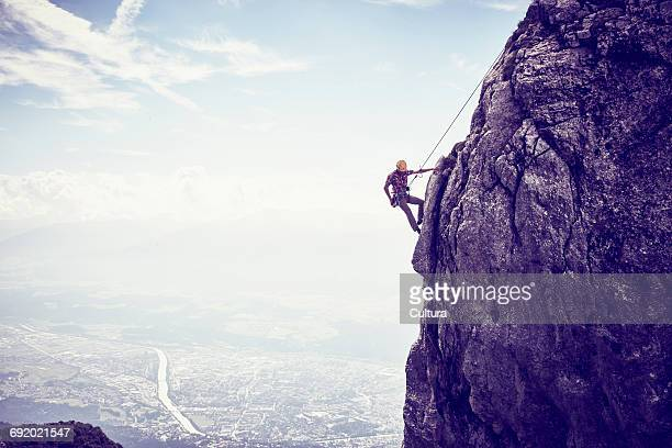 Mountaineer, climbing mountain, Innsbruck, Tyrol, Austria