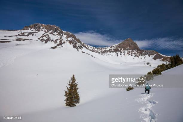 Mountaineer in Lost River Mountain Range, Idaho, United States