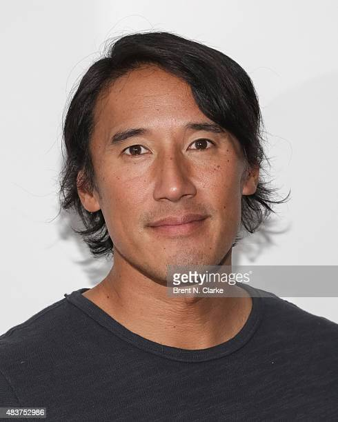 """Mountaineer/director Jimmy Chin poses for photographs during the 2015 Film Society of Lincoln Center Summer Talks with """"Meru"""" held at the Elinor..."""