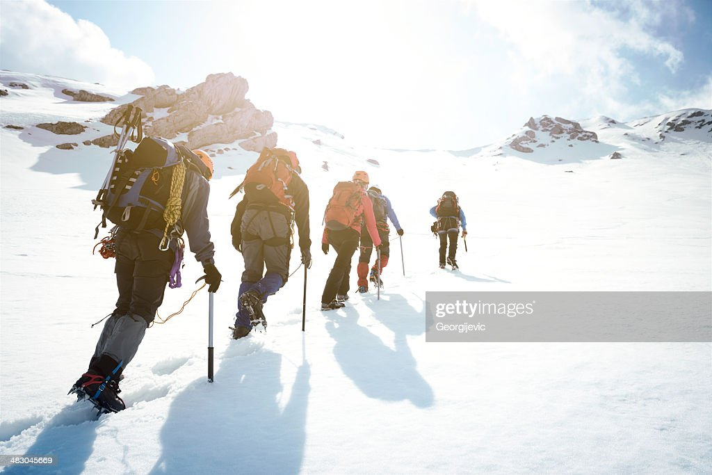 Mountaineering : Stock Photo