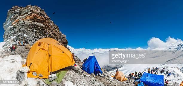 Bergsteiger auf expedition high camp von Mera Peak Himalajagebirge Nepals