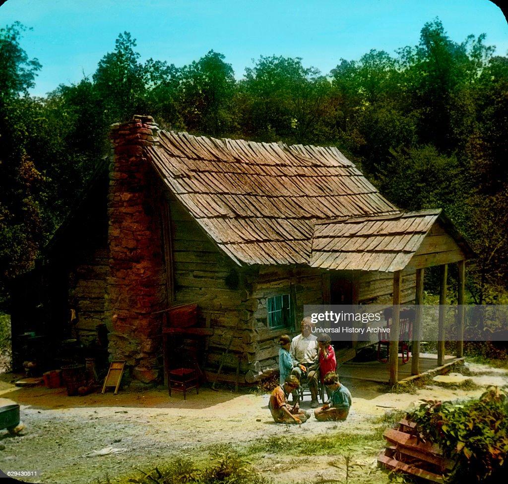 Ordinaire Mountaineeru0027s Cabin, Cumberland Gap, Tennessee, USA, Magic Lantern Slide,  Circa 1910