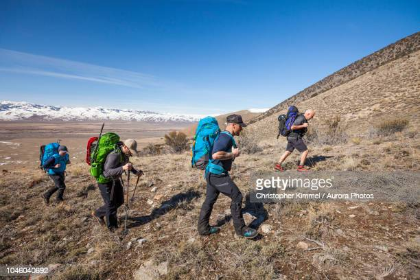 Mountaineers in Lost River Mountain Range, Idaho, United States